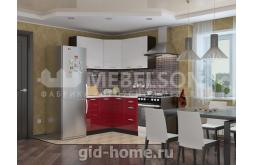 Кухня Виктория белый бордо