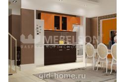 Кухня Виктория оранж венге