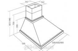 Купольная вытяжка для кухни AKPO WK-4 Rustica Bari 60 см.  схема