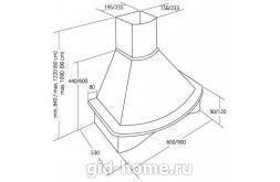 Купольная вытяжка для кухни  AKPO WK-4 Rustica Nova 60 см. схема