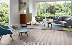 Ламинат Quick Step Loc Floor Plus Дуб старый серый брашированный 73 в интерьере в Ростове на Дону