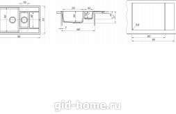 Мойка для кухни Липси 780 К схема
