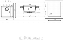Мойка для кухни Липси 460 схема