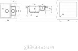 Мойка для кухни Липси 580 К схема