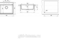 Мойка для кухни Липси 600 схема