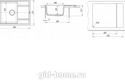 Мойка для кухни Липси 650 схема