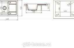 Мойка для кухни Липси 660 схема
