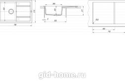 Мойка для кухни Липси 760 схема