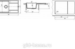 Мойка для кухни Липси 780 схема