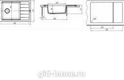 Мойка для кухни Липси 780 Р схема