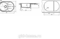 Мойка для кухни Лотос 780 схема