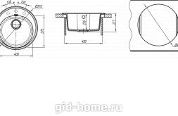 Мойка для кухни Лотос 510 схема