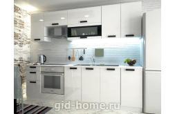 Модульная кухня Аляска белый глянец