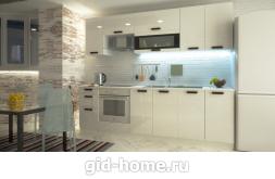 Модульная кухня Аляска белый глянец фото 2