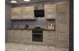 Модульная кухня в стиле лофт Фиеста Артвуд темный