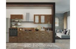 Модульная кухня в стиле лофт Фиеста Дуб крафт табачный
