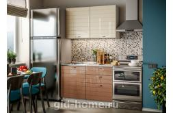 Модульная кухня Виола Нео Фрезеровка Тигра узкая фото 1