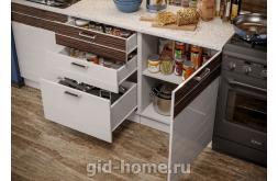 Модульная кухня Виола Нео Фрезеровка Тигра узкая фото 5