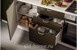 Модульная кухня Виола Нео Фрезеровка Тигра узкая фото 6