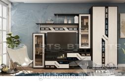 Модульная стенка в гостиную Зодиак фото