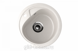 Мраморная мойка для кухни EcoStone ES-10 341 Молочный
