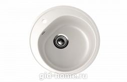 Мраморная мойка для кухни EcoStone ES-11 341 Молочный