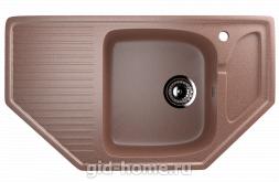 Мраморная мойка для кухни EcoStone ES-24 307 Терракотовый
