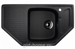 Мраморная мойка для кухни EcoStone ES-24 308 Черный
