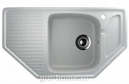 Мраморная мойка для кухни EcoStone ES-24 310 Серый