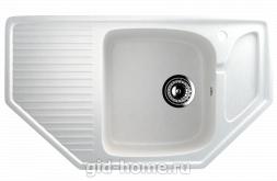 Мраморная мойка для кухни EcoStone ES-24 341 Молочный