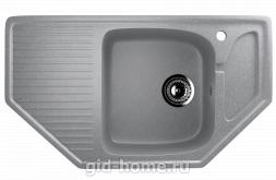 Мраморная мойка для кухни EcoStone ES-24 342 Графитовый