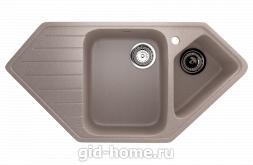Мраморная мойка для кухни EcoStone ES-25 302 Песочный