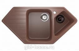 Мраморная мойка для кухни EcoStone ES-25 307 Терракотовый