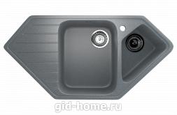 Мраморная мойка для кухни EcoStone ES-25 309 Темно-серый