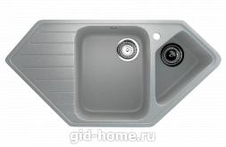 Мраморная мойка для кухни EcoStone ES-25 310 Серый