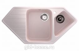 Мраморная мойка для кухни EcoStone ES-25 311 Светло-розовый