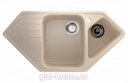 Мраморная мойка для кухни EcoStone ES-25 328 Бежевый
