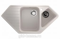 Мраморная мойка для кухни EcoStone ES-25 331 Белый