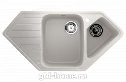 Мраморная мойка для кухни EcoStone ES-25 341 Молочный
