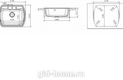 Мойка для кухни Нире 630 схема