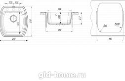 Мойка для кухни Нире 480 схема