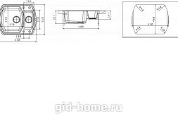 Мойка для кухни Нире 630 К схема