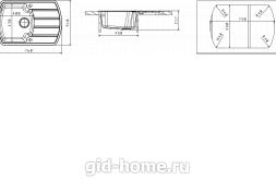 Мойка для кухни Нире 760 Схема