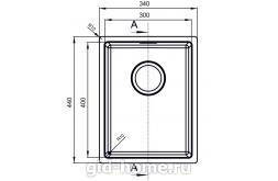 Мойка для кухни Оптима-НМ 300.400.10.10 схема