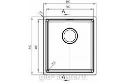 Мойка для кухни Оптима-НМ 360.400.10.10 фото
