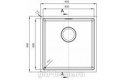 Мойка для кухни Оптима-НМ 400.400.10.10 фото2
