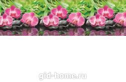 Кухонный фартук из АBS пластика Орхидеи