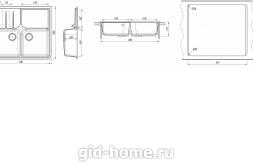 Мойка для кухни Остров схема