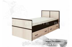 Полуторная кровать 0,9  Сакура 1050x860x2034