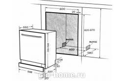 Посудомоечная машина встраиваемая Midea 60 см mid 60 s300 схема 1